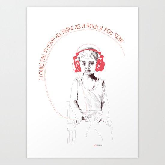 RocknRoll Boy Art Print