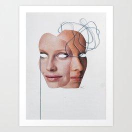 Left Brain - Right Brain Art Print