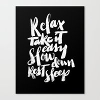 relax Canvas Prints featuring relax by Matthew Taylor Wilson