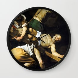 Caravaggio Crucifixion of Saint Peter Wall Clock