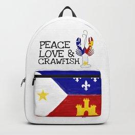 Peace, Love & Crawfish Backpack