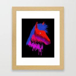 The Psychedelic Melt Framed Art Print