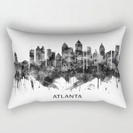 Atlanta Georgia Skyline BW Rectangular Pillow