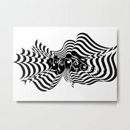 Psycho wave clear Metal Print
