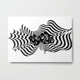 Psycho wave clear Metal Print