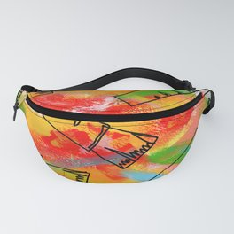Food Illustration Carrots Pattern Vegetable Painting Fanny Pack