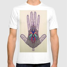 Hand Of Happiness  Mens Fitted Tee MEDIUM White