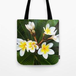 Frangipani Blossom Cluster Tote Bag