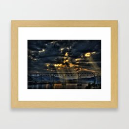 Train Bridge Framed Art Print