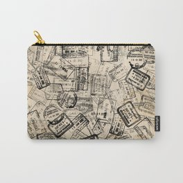 Passport Stamps Collage Print Carry-All Pouch