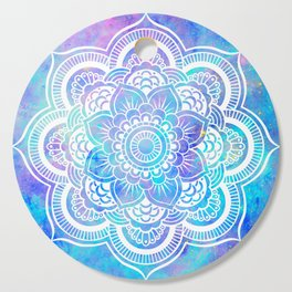 Mandala Pink Lavender Aqua Galaxy Space Cutting Board