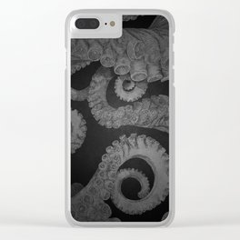 Octopus BW. Clear iPhone Case