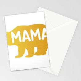 Witty Mom Novelty Caution Mama Bear on Board Best Mothers Day Gift Stationery Cards