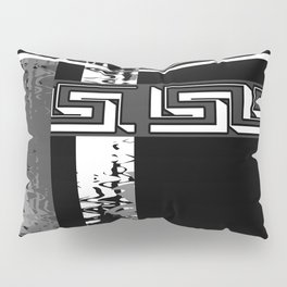 Creative Black and white pattern . The braided belts . Pillow Sham