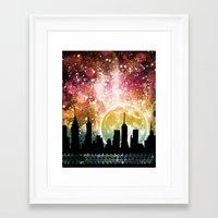 moonrise Framed Art Prints featuring Moonrise by Jenndalyn