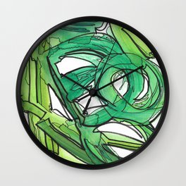 Nature's Lever Modern Watercolor Painting Wall Clock