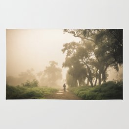 Morning in the fog Rug