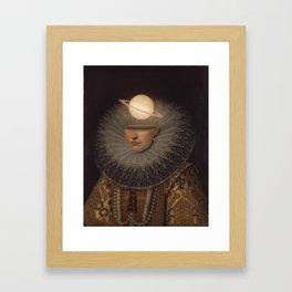 Mrs. Saturn Framed Art Print