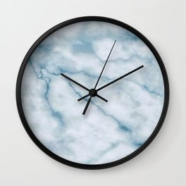 Light blue marble texture Wall Clock