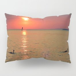 Swans in the Sunset Pillow Sham