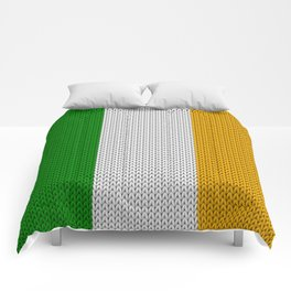 Flag of Ireland - knitted Comforters