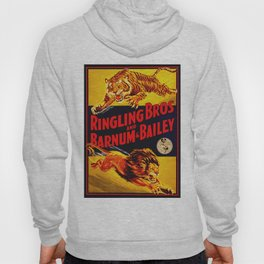 Vintage Circus Poster - Tiger & Lion Hoody