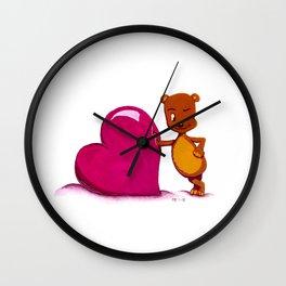 Teddy Valentine #2 Wall Clock