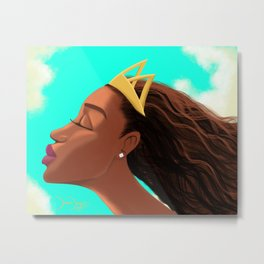 Don't Touch My Crown Metal Print