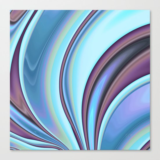 Abstract Fractal Colorways 02PrBl Canvas Print