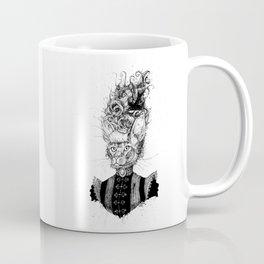 High-Class Victorian Cat (B&W) Coffee Mug