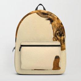 SELECTIVE FOCUS PHOTOGRAPHY OF GIRAFFE Backpack