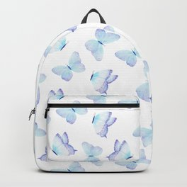 Hand painted pastel teal lavender watercolor butterflies Backpack