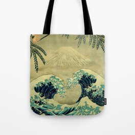 The Great Blue Embrace at Yama Tote Bag