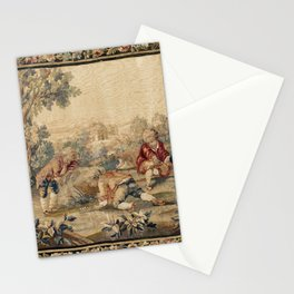 Aubusson  Antique French Tapestry Print Stationery Cards