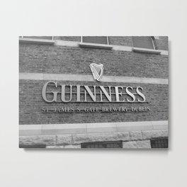 Guinness Storehouse - Black & White Metal Print