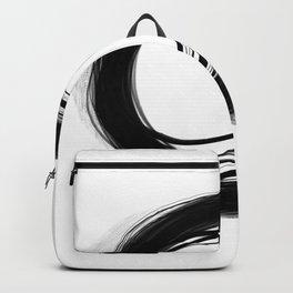 Minimal Circle black and white Backpack
