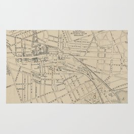 Vintage Map of Saratoga Springs NY (1895) Rug