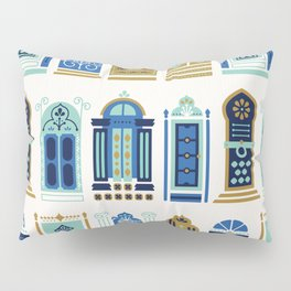 Moroccan Doors – Blue & Gold Palette Pillow Sham