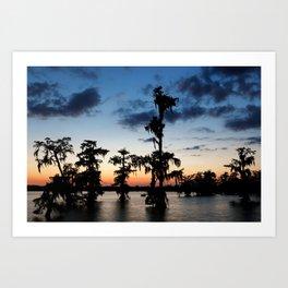 Evening at Lake Martin 2 Art Print
