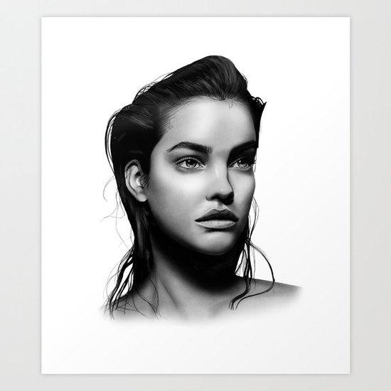 Fashion Illustration - Barbara Palvin Art Print by ...
