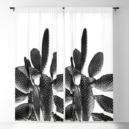 Black White Cactus #1 #plant #decor #art #society6 Blackout Curtain