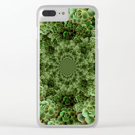 SEA FOAM FROTHY BLUE-GREEN SUCCULENTS Clear iPhone Case