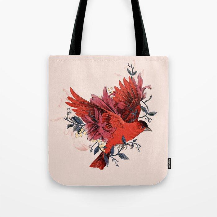 Blooming Bird Tote Bag