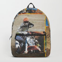 Motocross Collage Backpack
