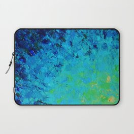 TRUE REFLECTION - Ocean Water Waves Ripple Light Impressionist Bright Colors Ombre Painting Laptop Sleeve
