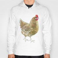 chicken Hoodies featuring Chicken by Natasha Hutton