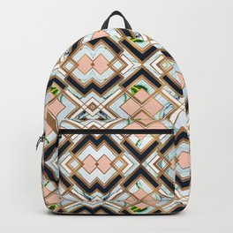 Art deco geometric pattern Backpack