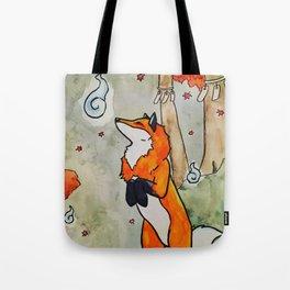 Kitsune and the Wisps Tote Bag