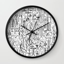 Medical Condition B&W Wall Clock