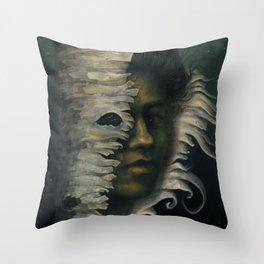 Nighttime Dryad Throw Pillow